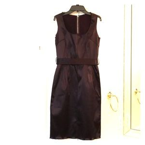 Dolce & Gabbana brown satin belted dress; size 38